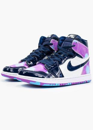 Nike air jordan 1  retro, женские демисезонные кроссовки найк джордан5 фото
