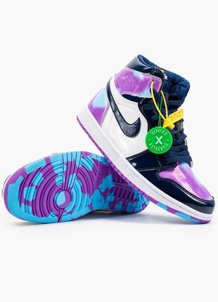 Nike air jordan 1  retro, женские демисезонные кроссовки найк джордан7 фото