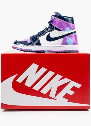 Nike air jordan 1  retro, женские демисезонные кроссовки найк джордан9 фото