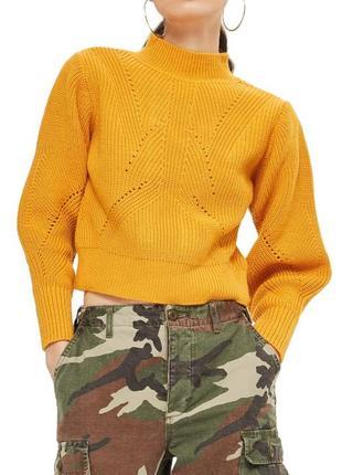Шикарный горчичный трендовый свитер \гірчичний жіночий светр .