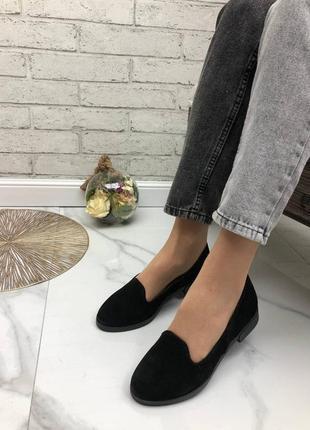 36-41 рр женские туфли, балетки, лоферы  натуральный замш/кожа4 фото