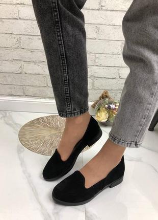 36-41 рр женские туфли, балетки, лоферы  натуральный замш/кожа
