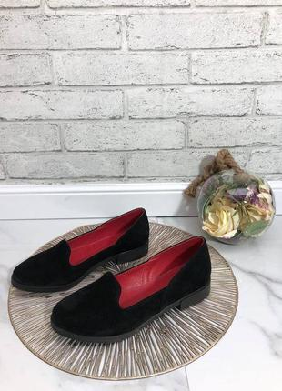 36-41 рр женские туфли, балетки, лоферы  натуральный замш/кожа2 фото