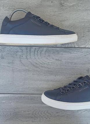 Skechers los angeles rice женские синие кожаные кроссовки оригинал 39 размер
