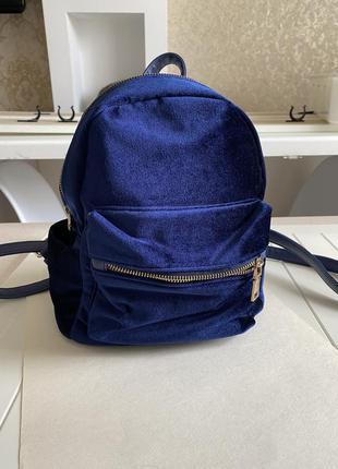 Велюровый бархатный рюкзак