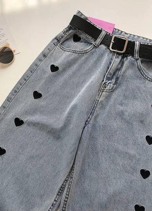 Крутые джинсы с сердечками💔