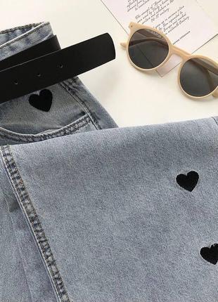 Крутые джинсы с сердечками💔2 фото