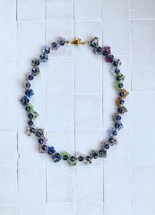 Ожерелье из бусин сваровски
