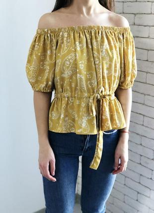 Гірчична блуза