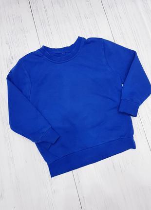 Синий свитшот на мальчика 5-6 лет