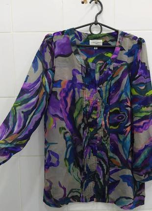Акварельная шифоновая блуза 10рр