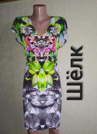 Фирменное платье из натурального шелка,р. 38,40
