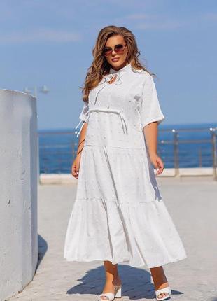 Платье коттон 50+