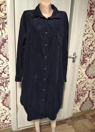 ❤️вельветовое платье рубашка uniqlo в новом состоянии