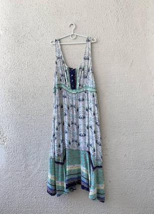 Сарафан в классный принт🐵 платье миди