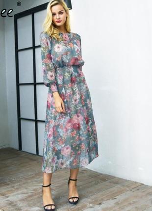Платье в цветочный принт zara h&m asos manro f&f h&m