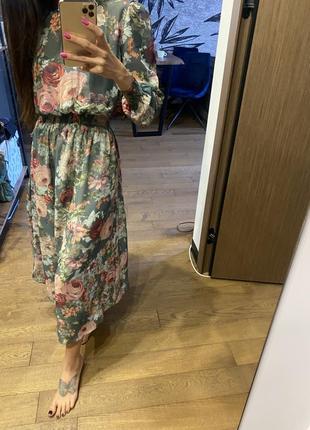 Платье с комбинацией