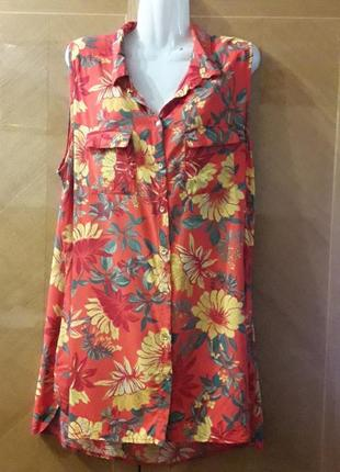 Яркая красивая  вискозная блуза  р.20 capsule
