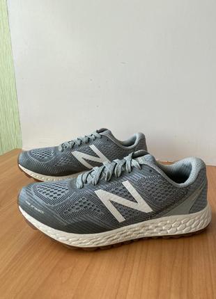 Кроссовки new balance, оригинал, размер 40,5; спортивные, сетка, беговые, женские, летние, серые, легкие, модные, рефлективные