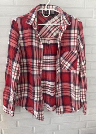 Красная клетчатая рубашка zara рубашка в клетку красная рубашка