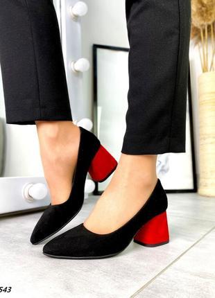 Туфли на каблуке замшывые