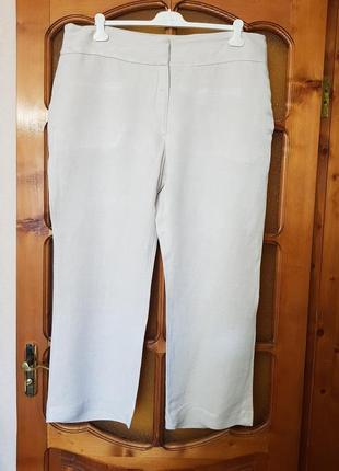 Штаны брюки лён,  вискоза см. замеры- очень большой размер.