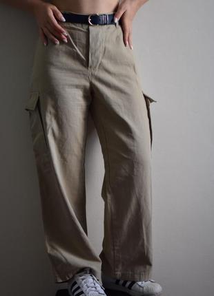 Dolce&gabbana  дольче джинсы брюки с накладными карманами люкс штаны джинсы высокая посадка широкий крой