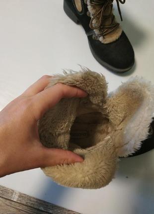 Стильные замшевые зимние ботинки на шнуровка7 фото