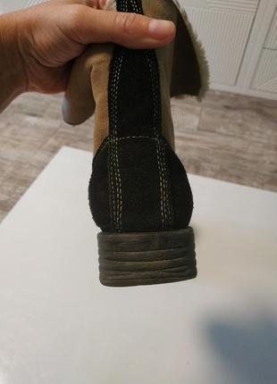 Стильные замшевые зимние ботинки на шнуровка5 фото