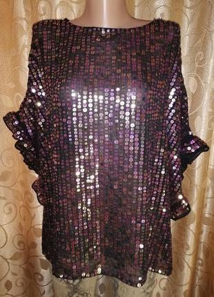 🌟🌟🌟красивая женская блузка, кофта в пайетках river island🌟🌟🌟