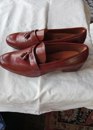 Кожаные мужские туфли 43 размера