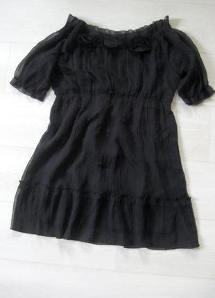 Блуза asos чёрная с декором чёрные розы