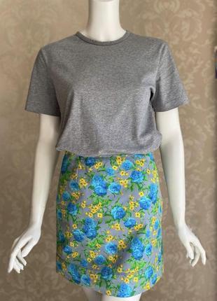 Versace оригинал италия короткая юбка в цветочный принт