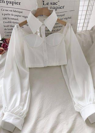 Блузы с воротником 🖤