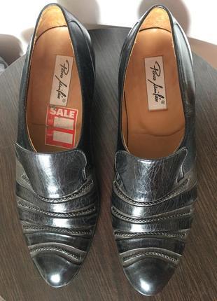 Испанские кожаные туфли лоферы paco milan