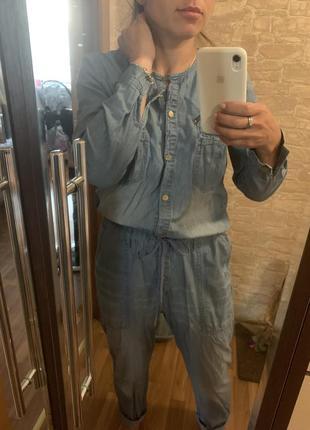 Комбез джинсовый