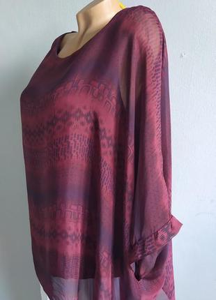 Блуза-майка, туника с натуральным шелком.4 фото