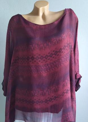Блуза-майка, туника с натуральным шелком.