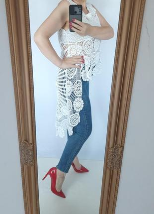 Шикарна подовжена блуза, можливо як пляжний варіант