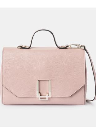 Новый кожаный рюкзак coccinelle пудра сумка оригинал 100% кожа