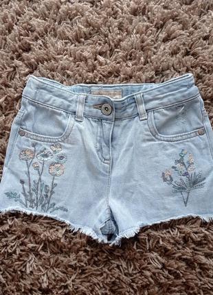Шикарні джинсові шорти з вишивкою і паєтками next5 фото