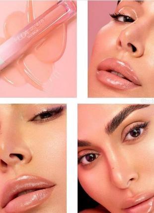 Huda beauty silk balm hydra-plumping lip balm blush - бальзам для губ, 1,8 мл