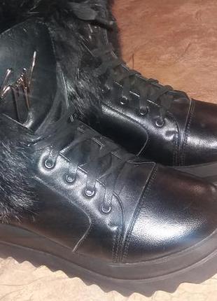 Зимние ботинки мех натуральный