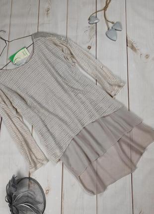 Платье туника новая шикарная итальянская нарядная украшенная паетками uk 12-14