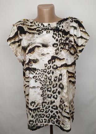 Блуза стильная в питоновый принт river island uk 10/38/s