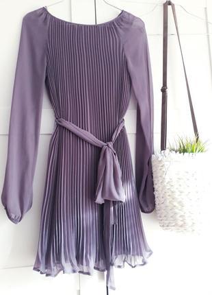 Плиссированное шифоновое платье