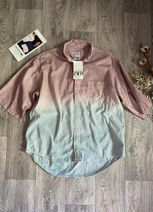 Рубашка зара размер с оверсайз