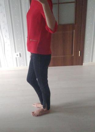 Реглан. кофточка. блузка. красная