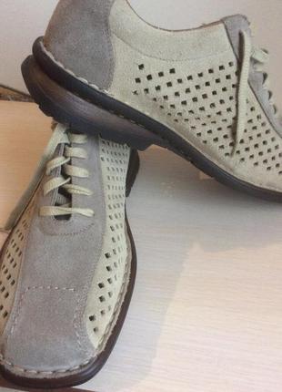 Новые летние кожаные(замша) туфли известного бренда rieker германия