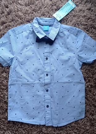Сорочка з бантиком для хлопчика